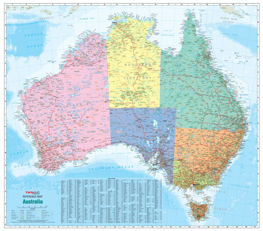 Australia Political Reference Map - Australian political map