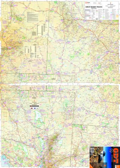 4wd Map Of Australia.Great Desert Track Series Great Desert Tracks Of Australia Eastern