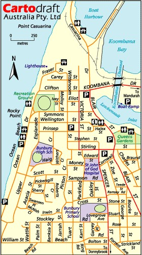 Map Of Western Australia With Towns.Digital Australia Towns Bunbury Western Australia Sydney