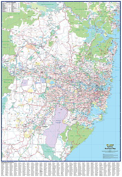 Laminated wall maps nsw sydney business sydney australia ubd a sydney suburban map showing postcode numbers and boundaries the map also shows local government area boundaries and names as well as industrial gumiabroncs Gallery