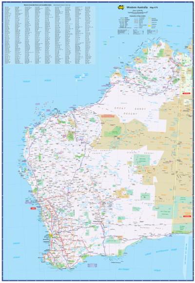 Map Of Western Australia With Towns.Laminated Wall Maps Wa Western Australia 670 Large Sydney