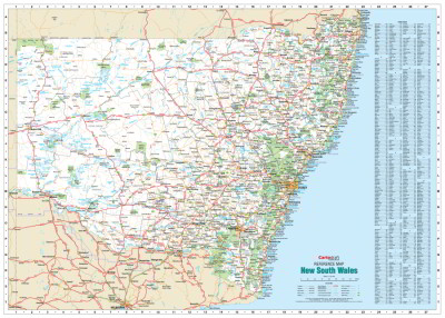 Nsw Map Australia.Laminated Wall Maps Nsw New South Wales Reference Map Large