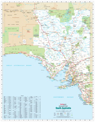 Map Of Australia Labelled.Laminated Wall Maps Sa South Australia Reference Map Large