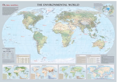 Laminated Wall Maps World Environmental World Map Sydney Australia