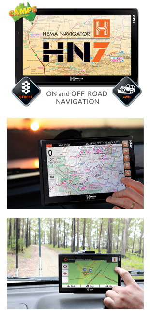 Hema Navigator - 4WD GPS Navigation System - navigation system - australian maps - offroad - large screen - touch screen - rear-view camera - all in one