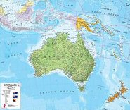 laminated australian business wall maps