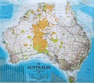 laminated australian wall maps