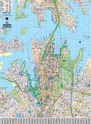 laminated wall maps business maps sydney central business district