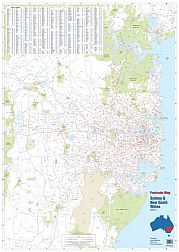 laminated australian postcode maps melbourne victoria new south wales sydney central